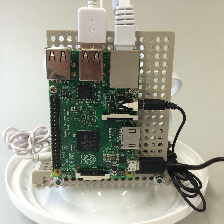 写真7-88 Raspberry Piに各ケーブルをつなぐ